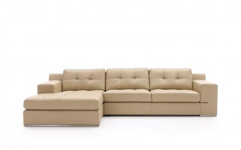 Lazio Leather Corner Chaise Sofa