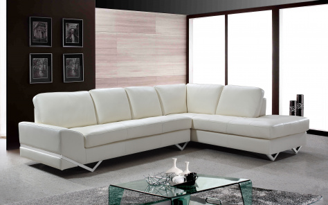 Madison Contemporary Italian Leather Corner Sofa