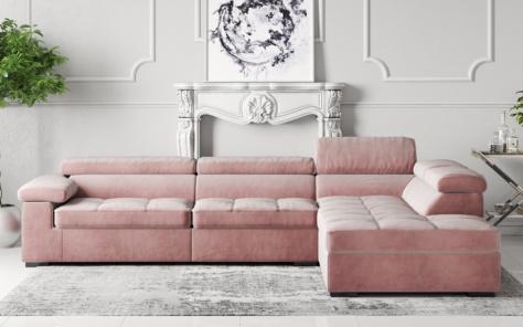 Anna Velvet Fabric Corner Sofa