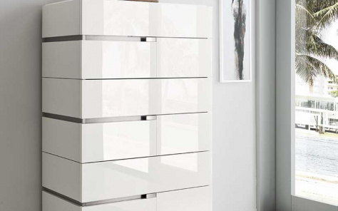 Isla White Gloss Tallboy