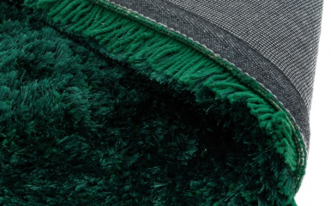 Plush Emerald Green Rug - London