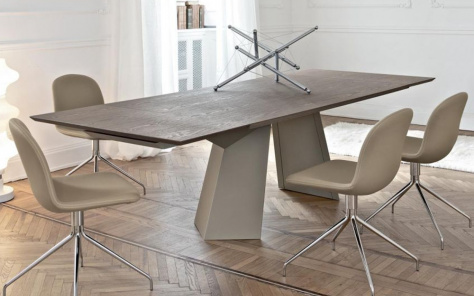 Fiandre Wood Top Extending Dining Table