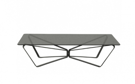 Bontempi Loop Coffee Table - Black Metal Base