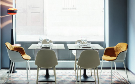 Mood Dining Chair - Triangular Legs