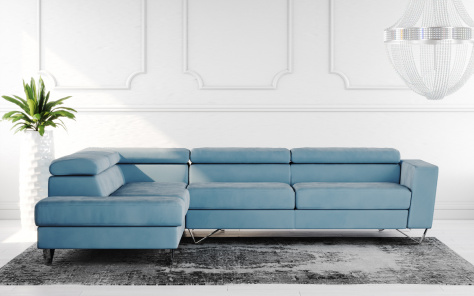 Brook Fabric Corner Sofa