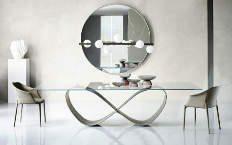 Buterfly Glass Dining Table