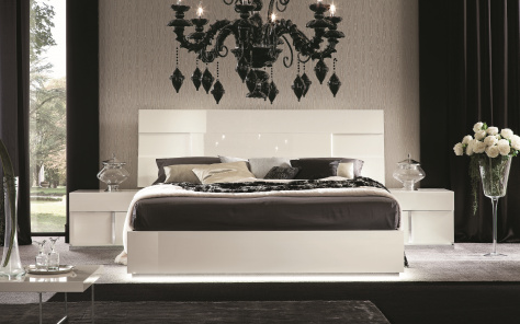 Canova Bed - White Gloss
