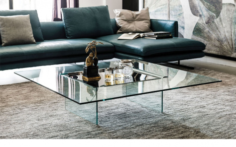 Carre Glass Coffee Table
