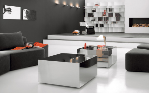 Dadox Coffee Table - Stainless Steel