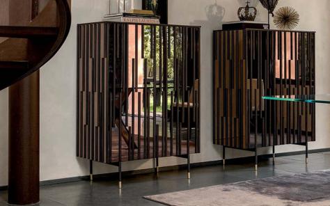 Drops Bronze Mirrored Cupboard