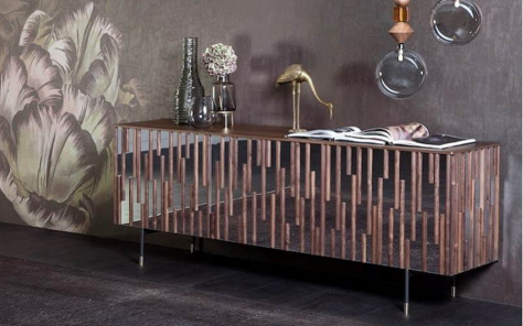 Drops Silver Mirrored Sideboard