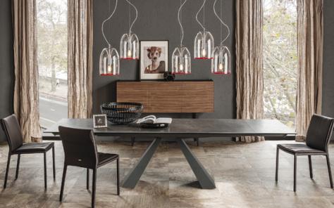 Edward Drive Keramik Extending Dining Table - Fokos Ceramic  LeadTop