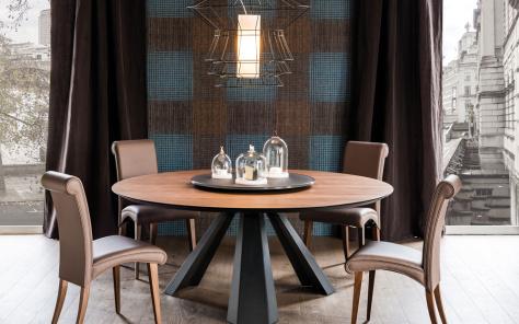 Edward Round Wood Dining Table