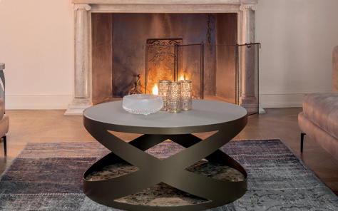 Flame Coffee Table - Marble Base