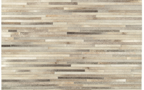 Gucho Light Grey Stripe Hide Rug - Asiatic