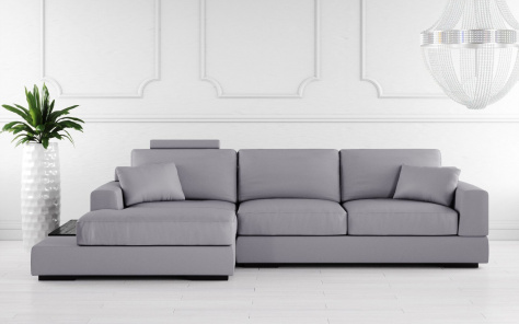 Gino Leather Corner Sofa