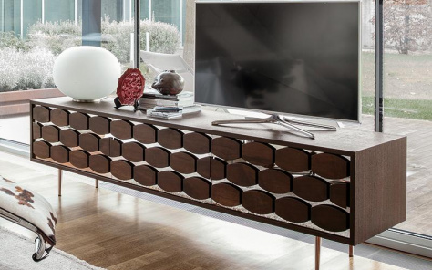 Honeycomb TV Unit