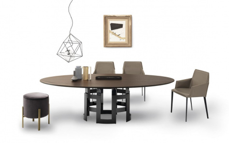 Imperial Wood Oval Dining Table