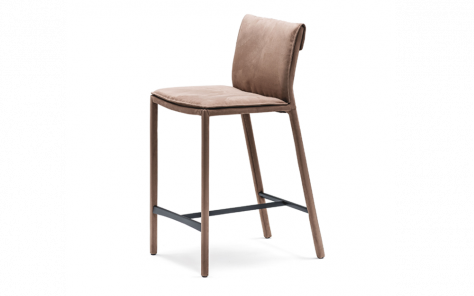 Isabel Leather Bar Stool - Cattelan Italia