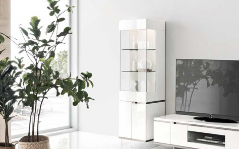 Isla White Gloss 1 Door Cabinet