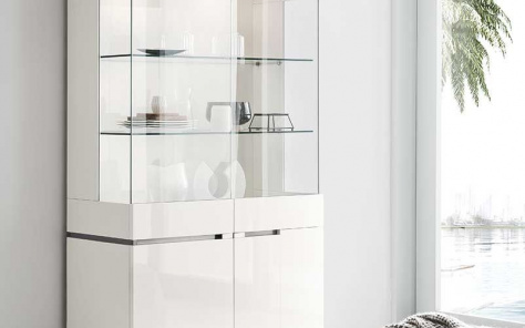 Isla White Gloss 2 Door Cabinet