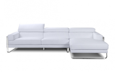 Juliett Leather Chaise Leather Corner Sofa