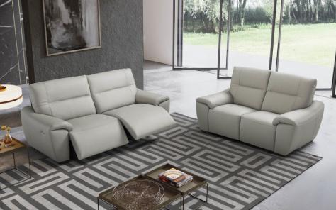 Louise Recliner Italian Leather Sofa