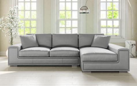 Lupo Leather Corner Sofa