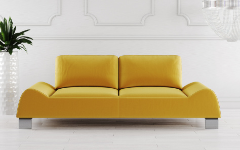 Mondena Futuristic Fabric Sofa