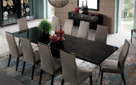 Noir Extending Dining Table - Top View