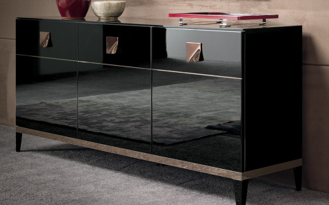 Noir 3 Door Sideboard