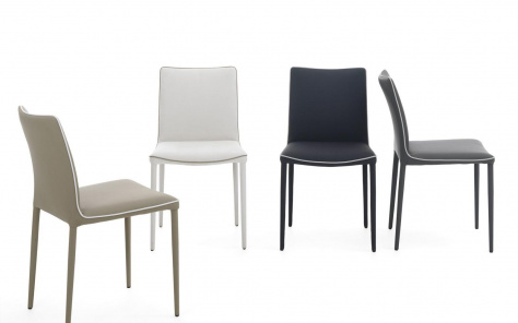 Bontempi Nata Low Back Dining Chair in Eco Leather