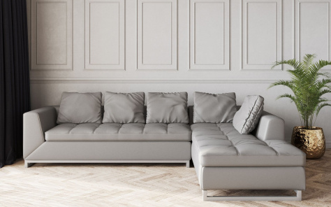 Novara Leather Corner Sofa