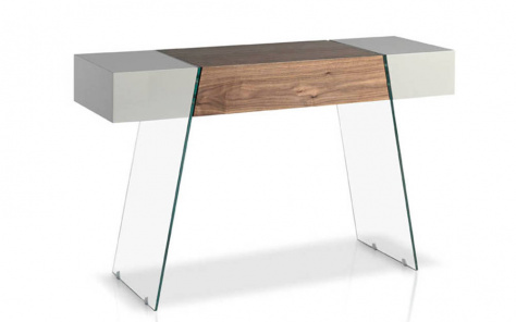 Origami Wood Console Table