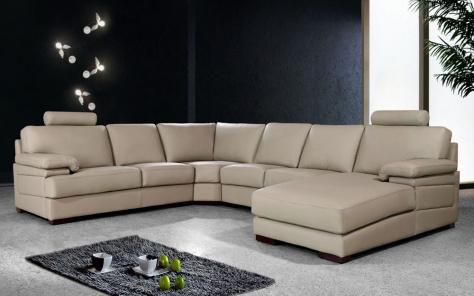 Piero Large Leather Corner Sofa