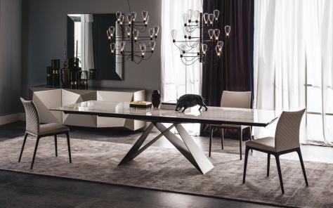Premier Drive Keramik Extending Dining Table