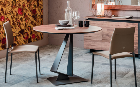 Roger Wood Round Dining Table - Bistro Table
