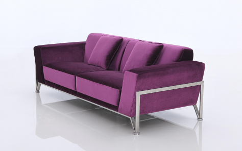 Rouche Contemporary Fabric Sofa