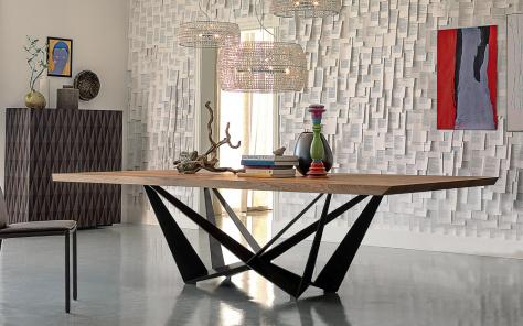 Skorpio Wood Dining Table - Heritage Oak Top