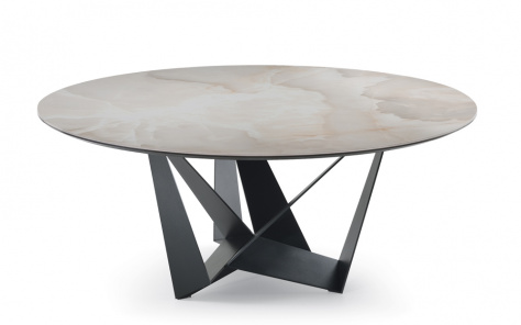 Skorpio Keramik Round Dining Table