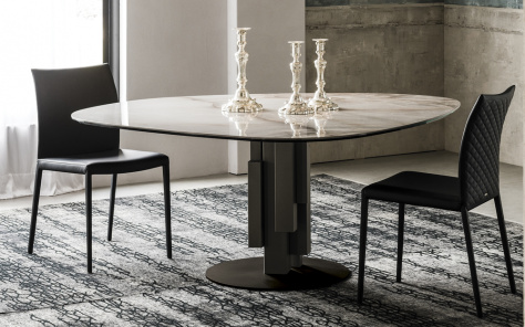 Skyline Round Keramik Dining Table