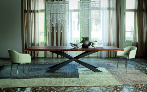 Spyder Wood Dining Table - Rectangular Top