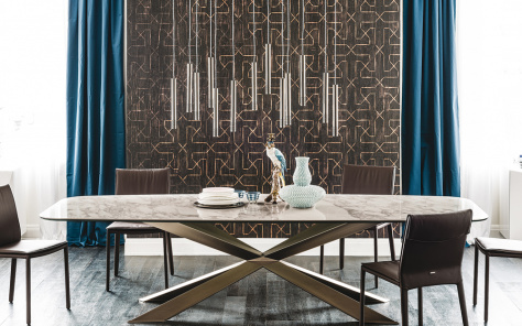 Spyder Keramik Dining Table - Oval Top