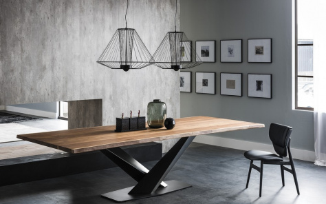 Stratos Wood Dining Table
