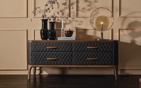 Tiffany Upholstered 4 Drawer Chest