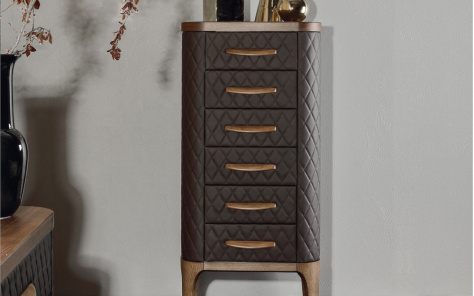 Tiffany Upholstered Tallboy