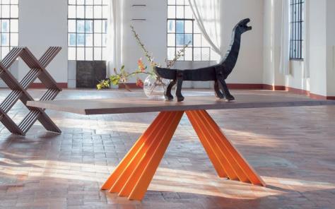 Flare Dining Table - Orange Base