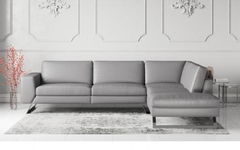 Vivid Modern Italian Leather Corner Sofa