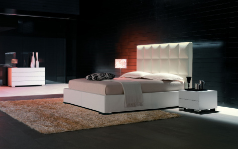 William Leather Bed
