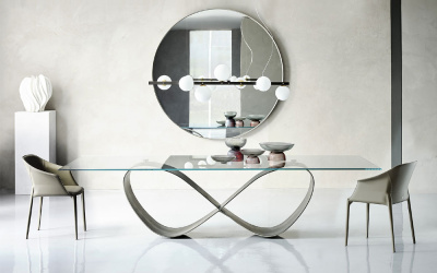 Butterfly Glass Dining Table